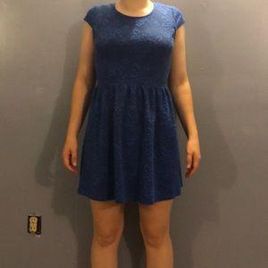 A blue flower dress